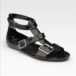 BNWT Black Burberry jelly gladiator sandal